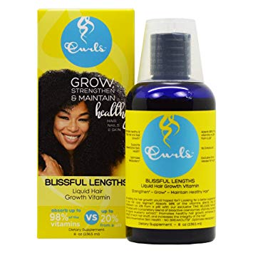 Curls Blissful Lengths Liquid Hair Growth Vitamin 8oz