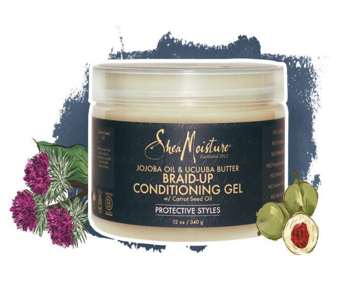 SheaMoisture Jojoba Oil & Ucuuba Butter Braid Up Conditioning Gel 12oz