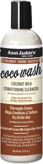 AUNT JACKIE'S™ COCONUT CRÈME RECIPES COCO WASH Coconut Milk Conditioning Cleanser