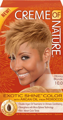 CREME OF NATURE EXOTIC SHINE™ COLOR WITH ARGAN OIL FROM MOROCCO 10.0 Honey Blonde