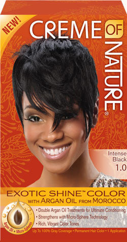 CREME OF NATURE EXOTIC SHINE™ COLOR WITH ARGAN OIL FROM MOROCCO 1.0 Intense Black