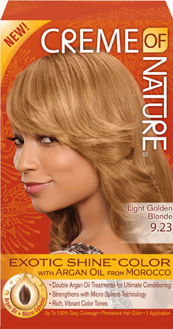 CREME OF NATURE EXOTIC SHINE™ COLOR WITH ARGAN OIL FROM MOROCCO 9.23 Light Golden Blonde