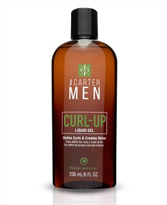 J Carter Men Curl Up Liquid Gel 8oz