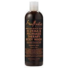 SheaMoisture African Black Soap Eczema &; Psoriasis Therapy Body Wash 12oz