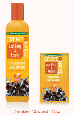 Creme of Nature Certified Natural Acai Berry & Keratin Strengthening Masque