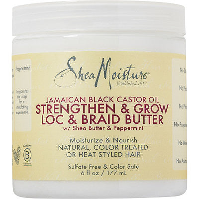 SheaMoisture Jamaican Black Castor Oil Strengthen & Grow Loc & Braid Butter 6oz