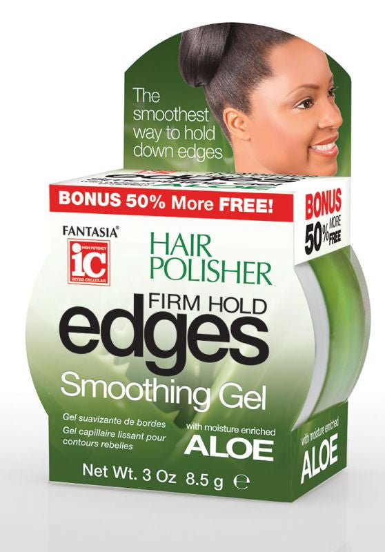 Fantasia IC Hair Polisher EDGES FIRM HOLD Smoothing Gel 3 oz