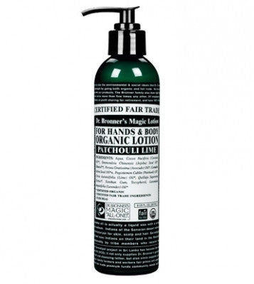 Dr. Bronner's  Organic Hand & Body Lotion Patchouli Lime 8oz