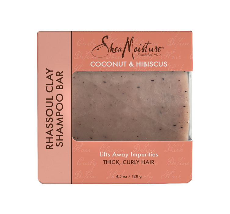 Sheamoisture COCONUT & HIBISCUS RHASSOUL CLAY SHAMPOO BAR