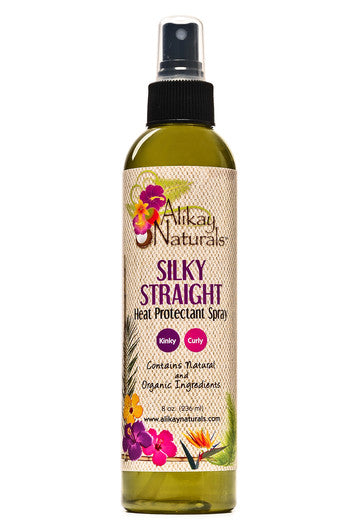 Alikay Naturals Silky Straight Heat Protectant Spray 8oz