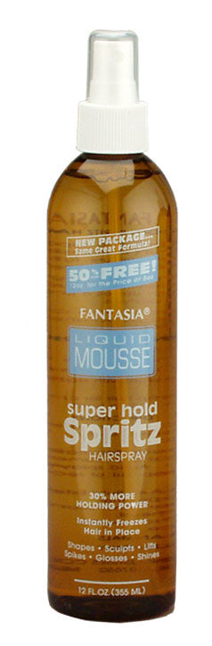 Fantasia IC Liquid Mousse Super Hold Spritz Hair Spray 12 oz
