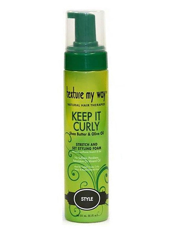 Texture My Way Keep It Curly Stretch and Set Styling Foam 8.5oz