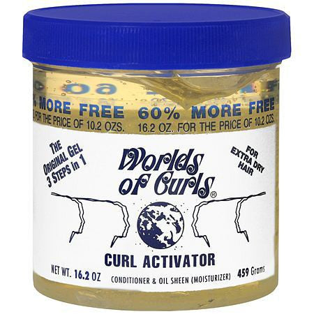 Worlds Of Curls Curl Activator Conditioner & Oil Sheen Gel 400ml