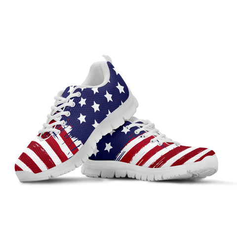 America Patriotic Running Shoes