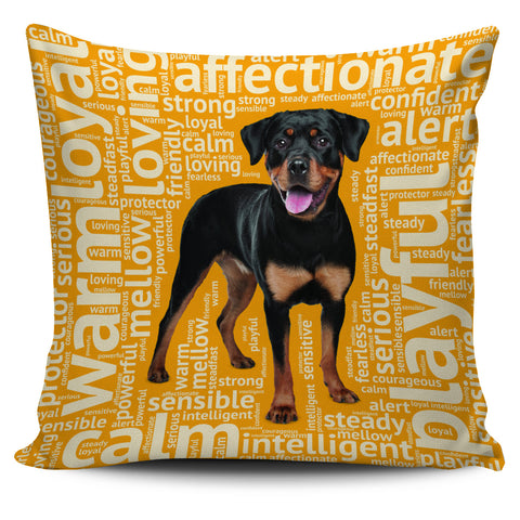 Rottweiler Gold Pillow Cover