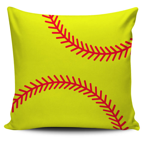 Softball Yellow Pillowcase