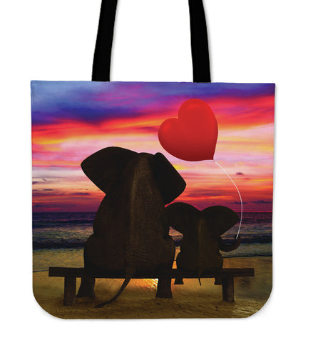 Elephant Sunset Totebag