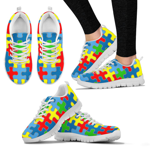 Autism Awareness Women's Sneakers.