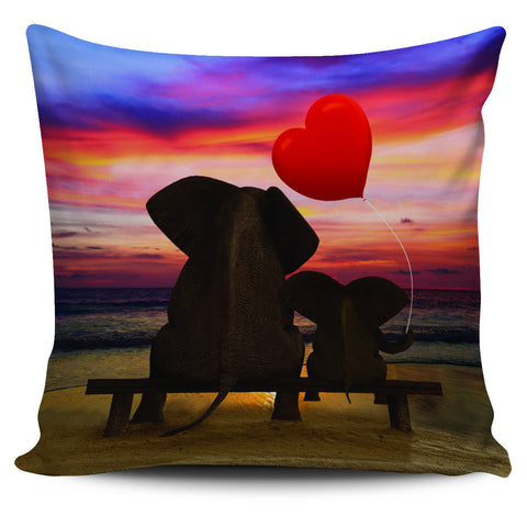 Elephant Sunset Pillowcase