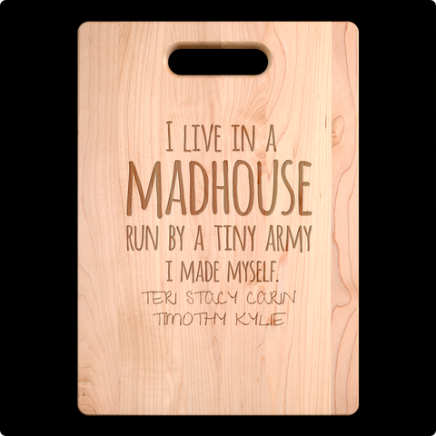 Mad House Cutting Board