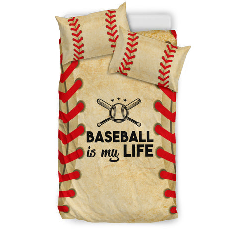 Baseball is my Life Bedding Set - Black