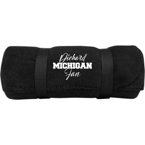 Diehard Michigan Fan Port & Co. Fleece Blanket 08