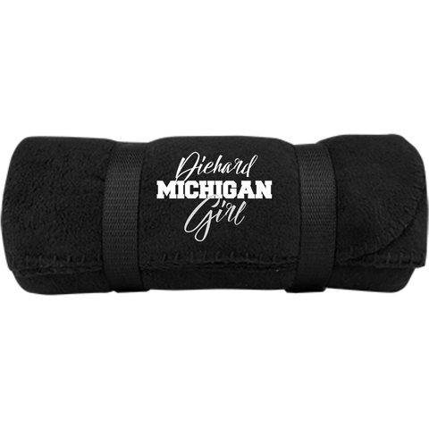 Diehard Michigan Fan Port & Co. Fleece Blanket