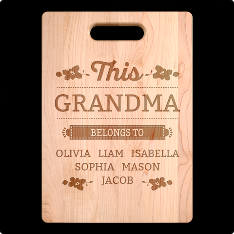 This Grandma Belongs to Cutting Board