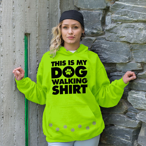 Safety Green Dog Walking Hoodie