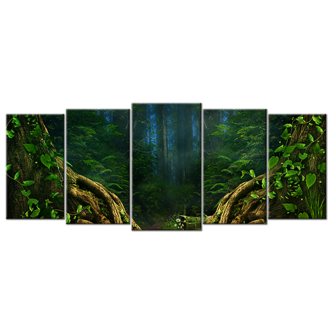 Mysterious Forest - 5 Panels L