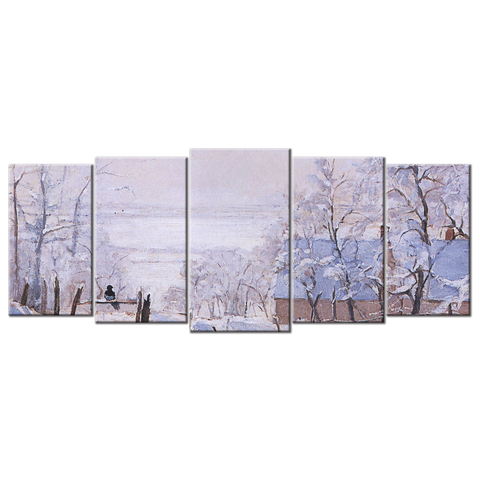 Monet Oil Painting Stock Photo 03 - 5 panels L