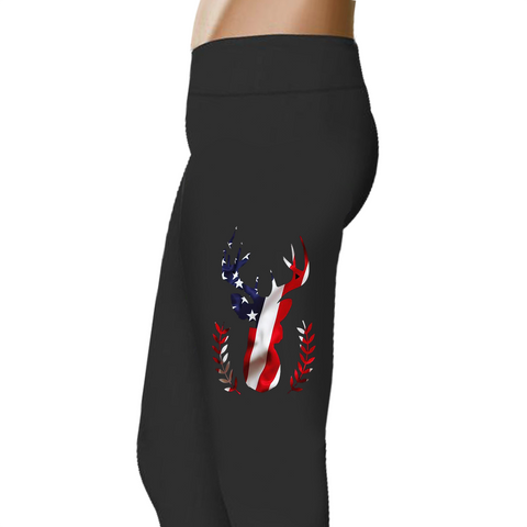American Deer - Women's Ukiyo™ Leggings - Full Length