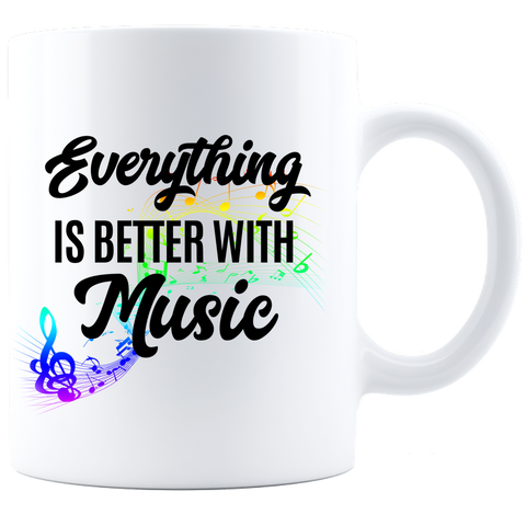 Coffee Mug - White - Better With Music
