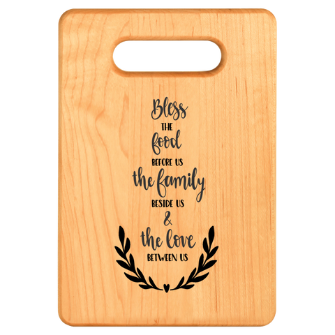 Cutting Board - Maple - Bless Food Family Love