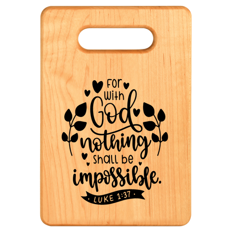 Cutting Board - Maple - For With GOD