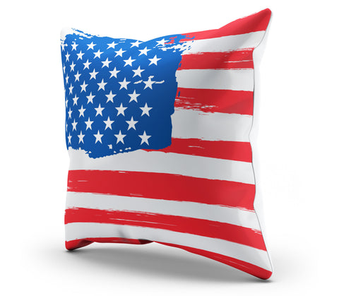 America Patrotic Flag Pillowcaase