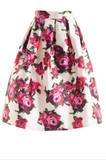 Puffy Floral Skirt