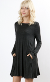 Charcoal Long Sleeve Dress or Top