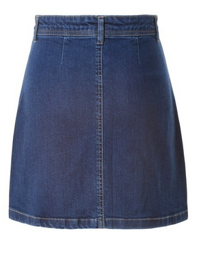 JEAN BOTTON DOWN SKIRT