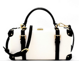 WHITE BUCKLE HANDBAG