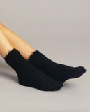 FURRY BLACK SOCKS