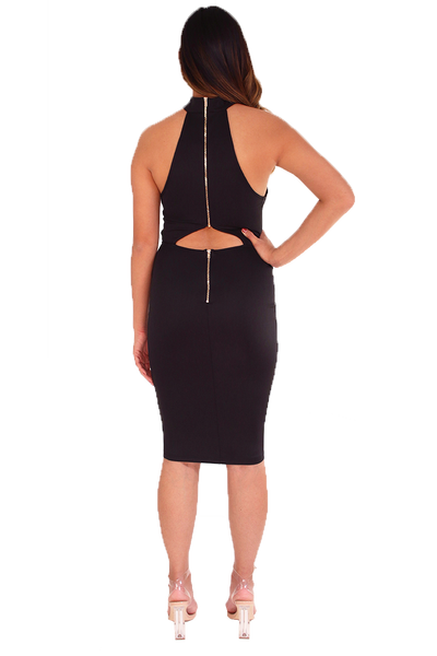 BLACK CHOKER DRESS