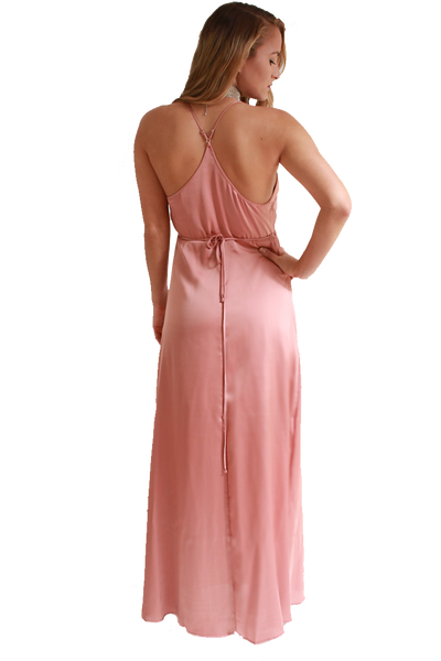 ROSE GOLD SILKY DRESS