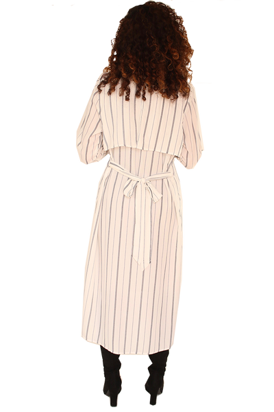 LONG STRIPED TUNIC WITH SIDE SLITS