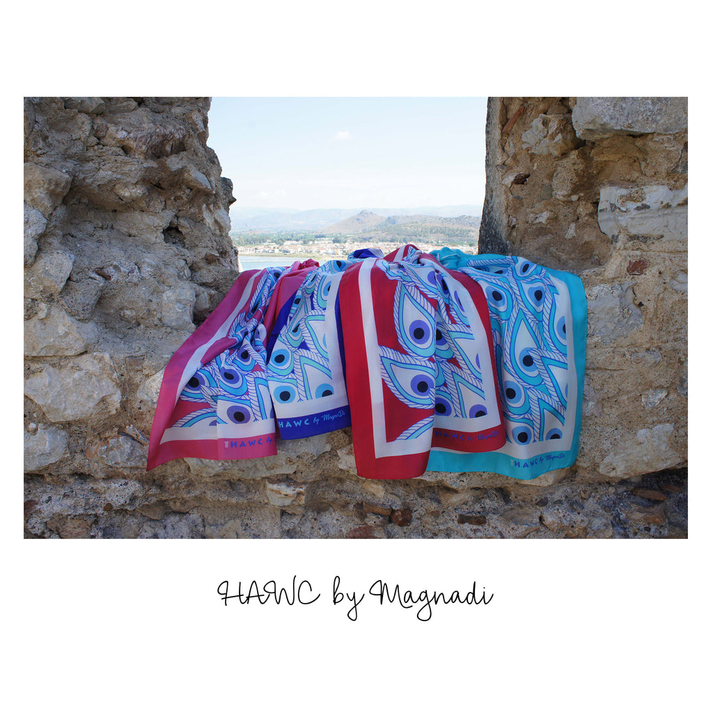 magnadi scarves greek silk scarves for HAWC
