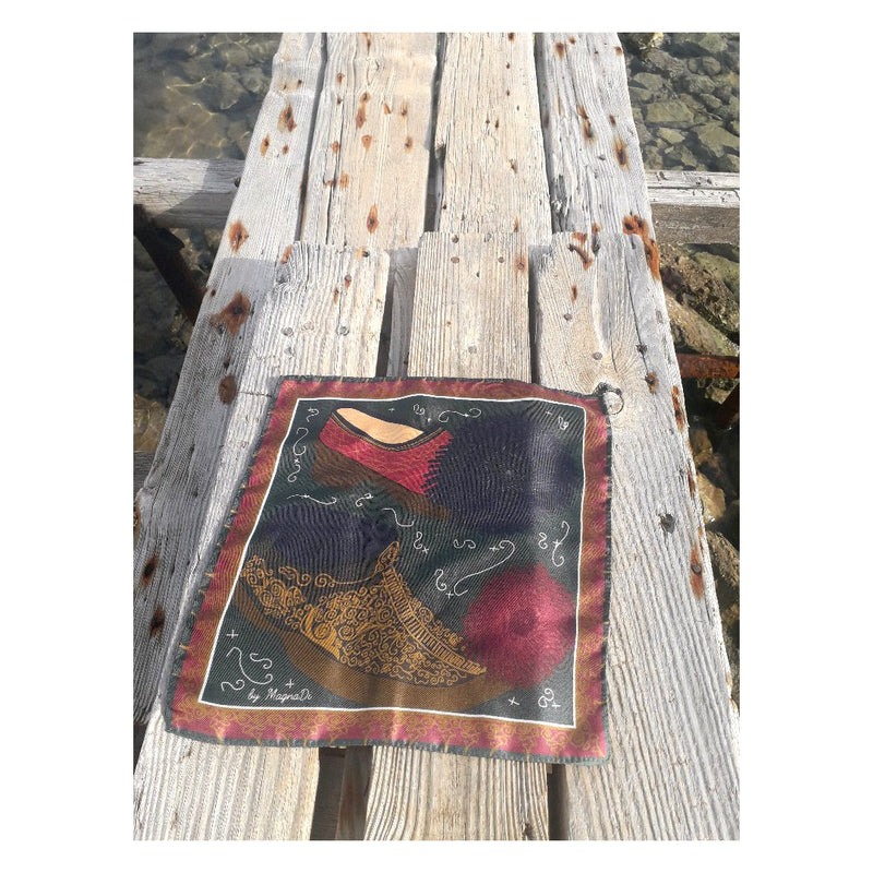 Tsarouxia - Digital Printed Silk Square Scarf