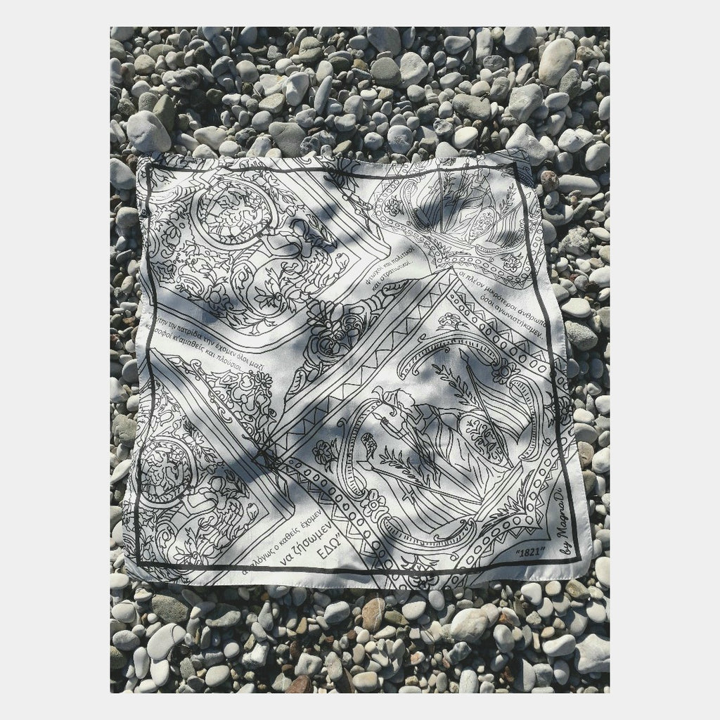 Patrida - Digital Printed Silk Square Scarf