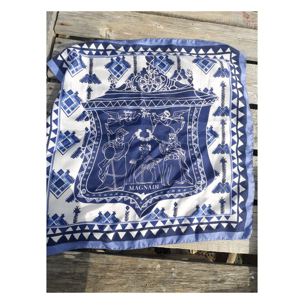 Palaska - Digital Printed Silk Square Scarf
