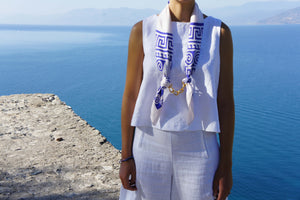 twill silk scarf made in greece magnadi scarves greek collection