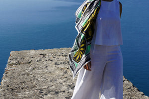 MagnaDi scarves Greek silk scarf digital print made in Greece